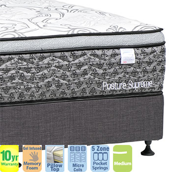 Posture Supreme Medium Queen Mattress and Base