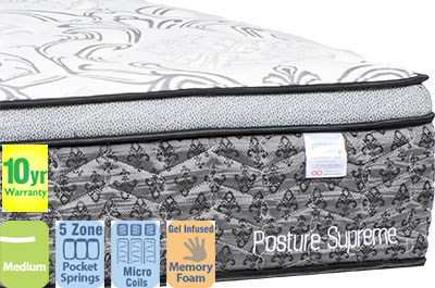 Posture Supreme Medium King Mattress with Pillow Top
