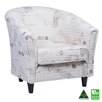 Preston Accent Tub Chair in Script