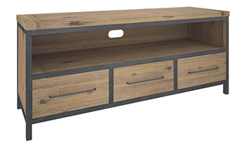 Pullman 3 Drawer Rustic TV Unit