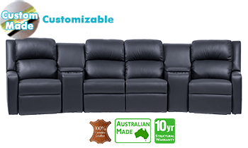 Regency Theatre Lounge (large) in 100% Top Grain Leather