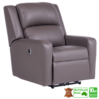 Regency Electric Recliner Chair in 100% Italian Leather
