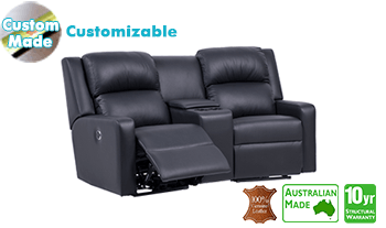 Regency Electric Recliner Theatre Lounge in 100% Italian Leather