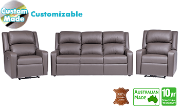 Regency Recliner Lounge in 100% Top Grain Leather