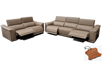 Rivano in 100% Leather with Electric Recliners & Headrests