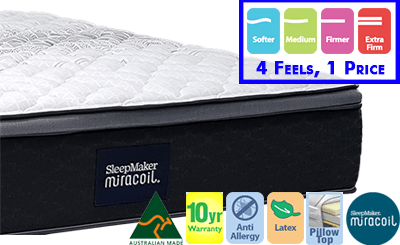 Sleepmaker Miracoil Advance 201 Mattress - Available in 4 Feels