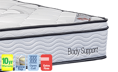 Body Support Firm Single Mattress with Pillow Top