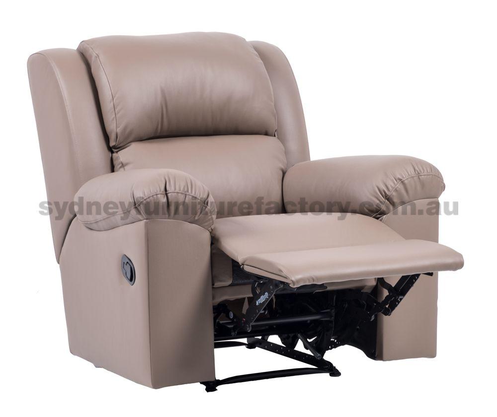 Sydney Recliner Chair in Full Italian Leather, Sydney ...