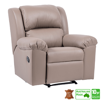 Sydney Recliner Chair in 100% Italian Leather