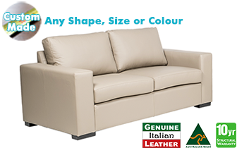 Torquay 100% Italian Leather Sofa