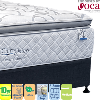 Chiro Osteo Ultimate Comfort Medium Double Mattress and Base