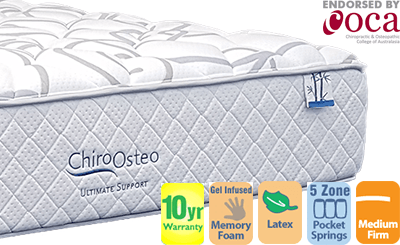 Chiro Osteo Ultimate Support MediumFirm Double Mattress