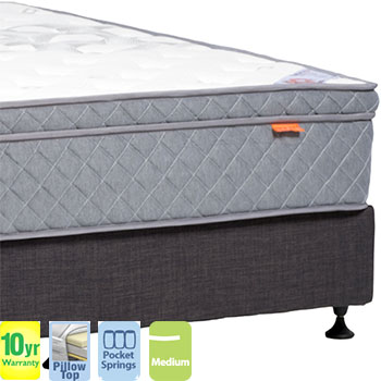 Urban Medium with Pillow Top Queen Mattress and Base