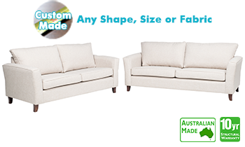 Vienna Fabric Sofa Pair