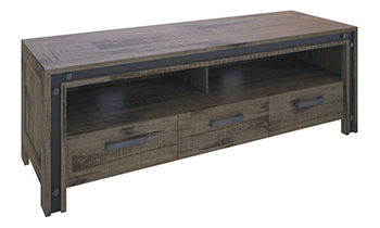Warehouse 3 Drawer Rustic TV Unit