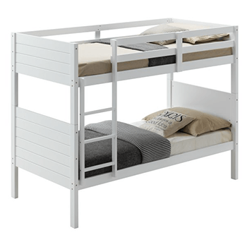 Welling Single Bunk Bed in White