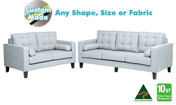 Wellington Fabric Sofa Pair