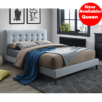 Yulara Upholstered Bed in Grey